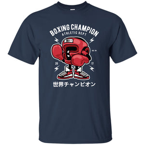 116 - RTP - Roach Graphics - Boxing Champion-01 - Adult Unisex T-Shirt