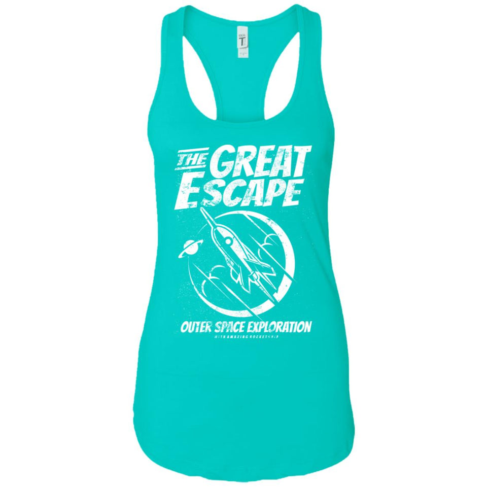 The Great Escape - Astronauts Art - Women's Racerback Tank Top