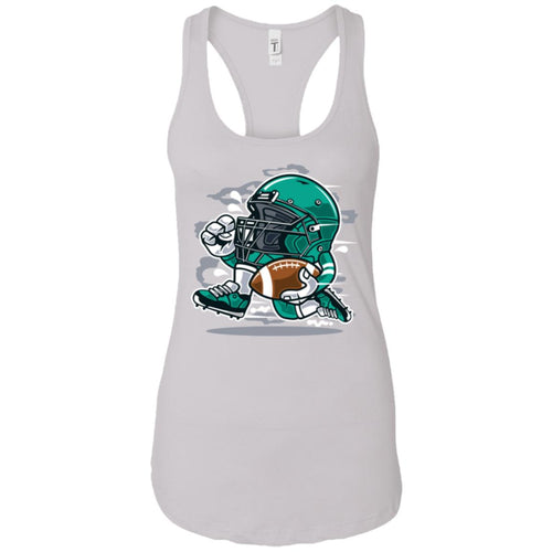 Football Player - Sports Art - Women's Racerback Tank Top