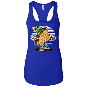 Taco - Food Art - Women's Racerback Tank Top