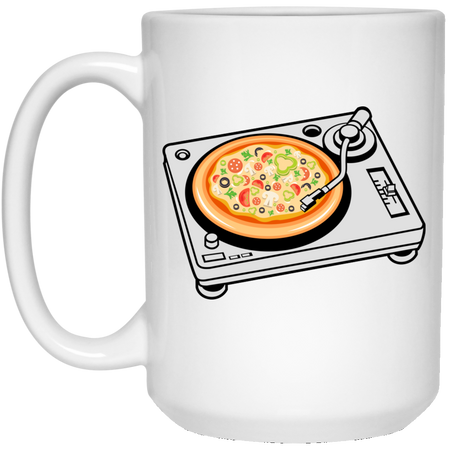 67 - RTP - Caffein Art - Pizza Scratch - Pizza Art - 15 oz. White Mug
