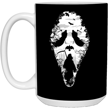 Reaper Scream - Horror Art - 15 oz. White Mug - 71