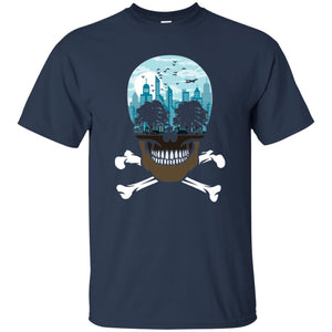 24 - RTP - Caffein Art - Death City - Skull Art - Adult Unisex T-Shirt