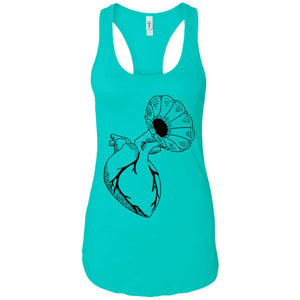 Music heart - Tattoos Art - Women's Racerback Tank Top