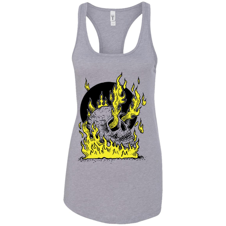 On fire - Tattoos Art - Women's Racerback Tank Top