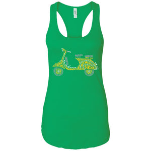 Scooter - Doodle Art - Women's Racerback Tank Top