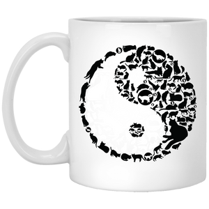 Yinyang Cats - Animal Art - 11 oz. White Mug - 99