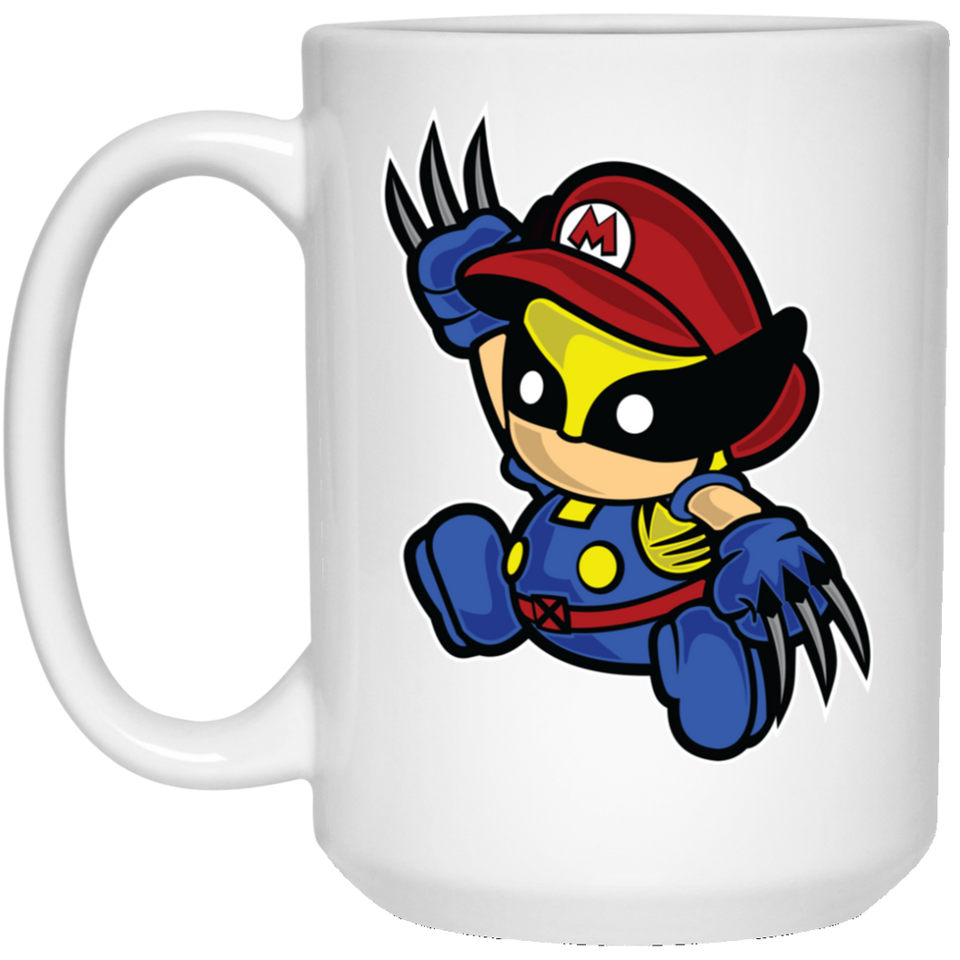 Mario Wolverine - Movies Art - 15 oz. White Mug - 189