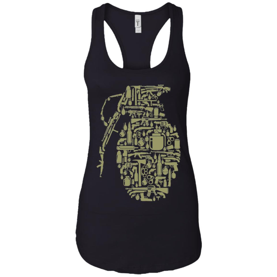Grenade - Weapons Art - Women's Racerback Tank Top