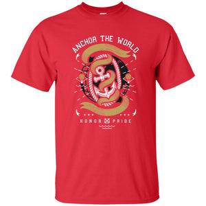 102 - RTP - Roach Graphics - Anchor The World-01 - Adult Unisex T-Shirt