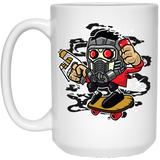 222 - RTP - Roach Graphics - Skate Lord-01 - 15 oz. White Mug