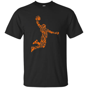 9 - RTP - Caffein Art - Basketball Player - Doodle Art - Adult Unisex T-Shirt