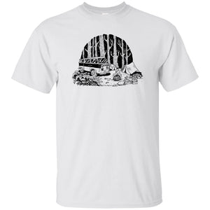393 - Tattoos Art - Camping - Adult Unisex T-Shirt