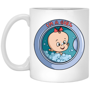 730 - RTP - Maria Funny Bundle - Wash Machine Baby Girl - XP8434 11 oz. White Mug