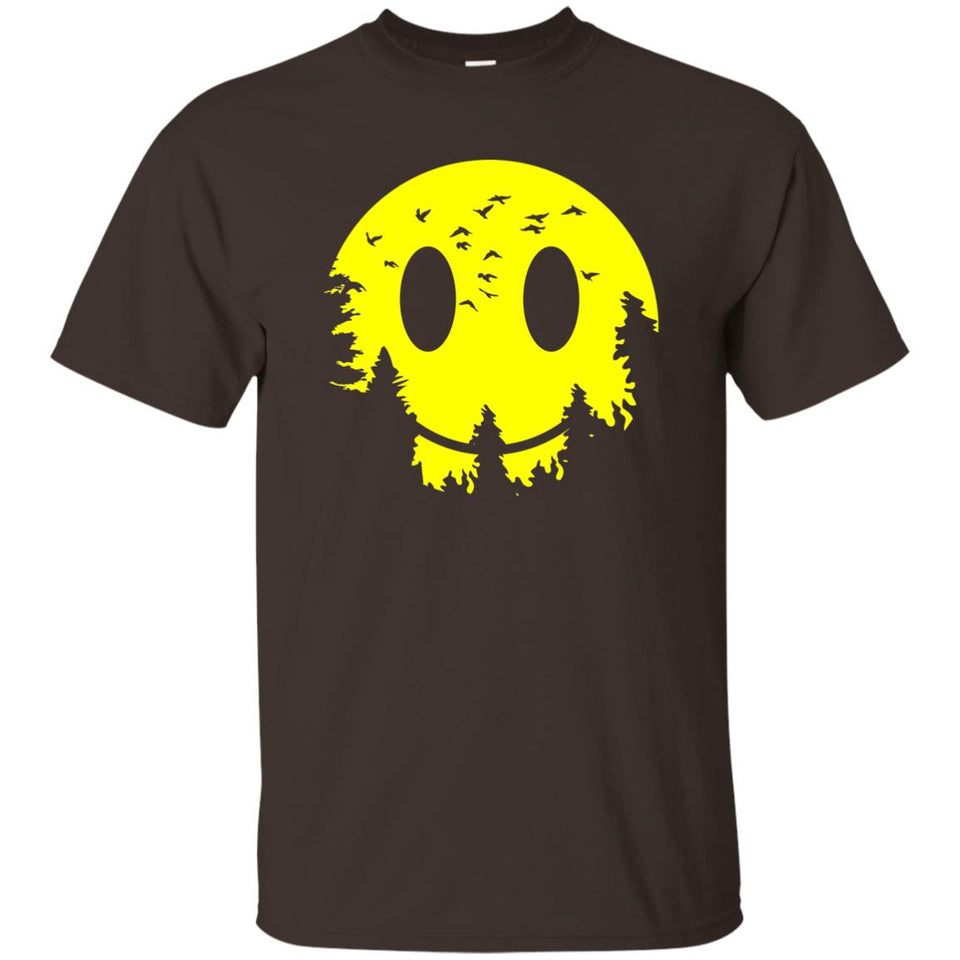 81 - RTP - Caffein Art - Smiley Moon - Doodle Art - Adult Unisex T-Shirt