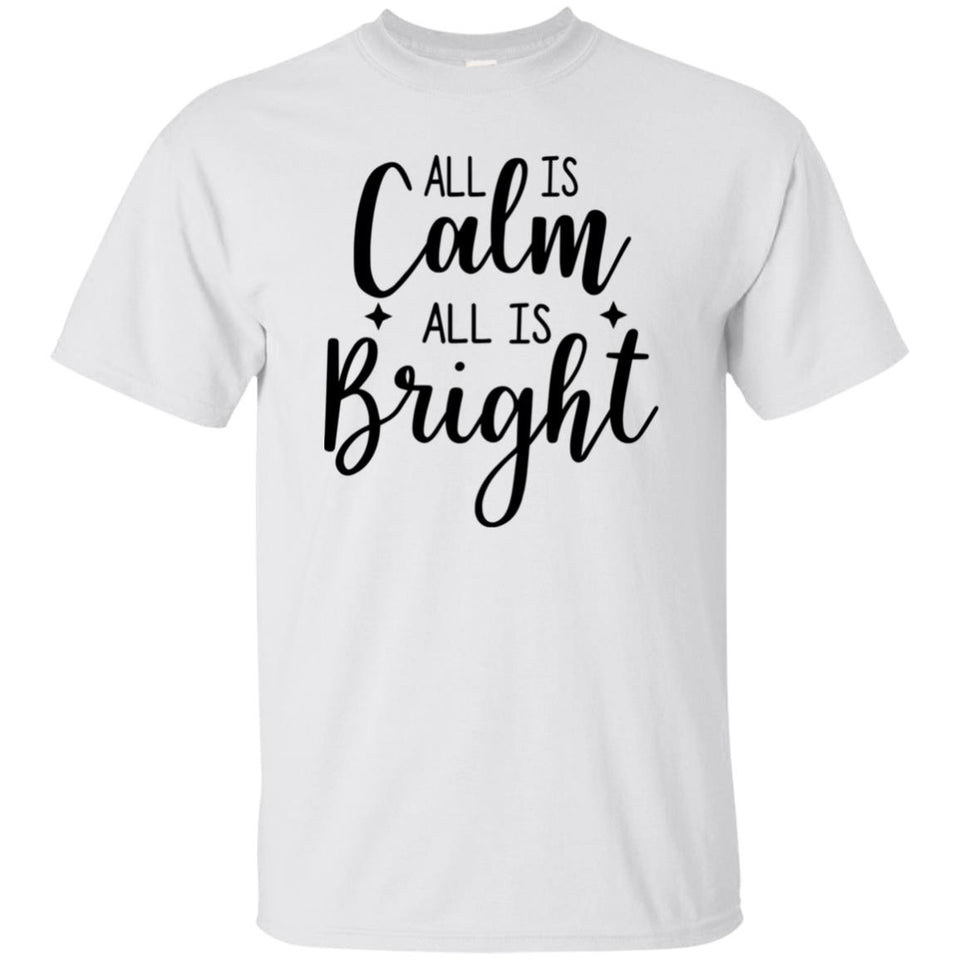 2018 -  RTP Happy Holidays - All Is Calm All Is Bright - Adult Unisex T-Shirt