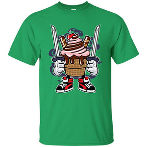 168 - RTP - Roach Graphics - Ice Cream Ninja-01 - Adult Unisex T-Shirt
