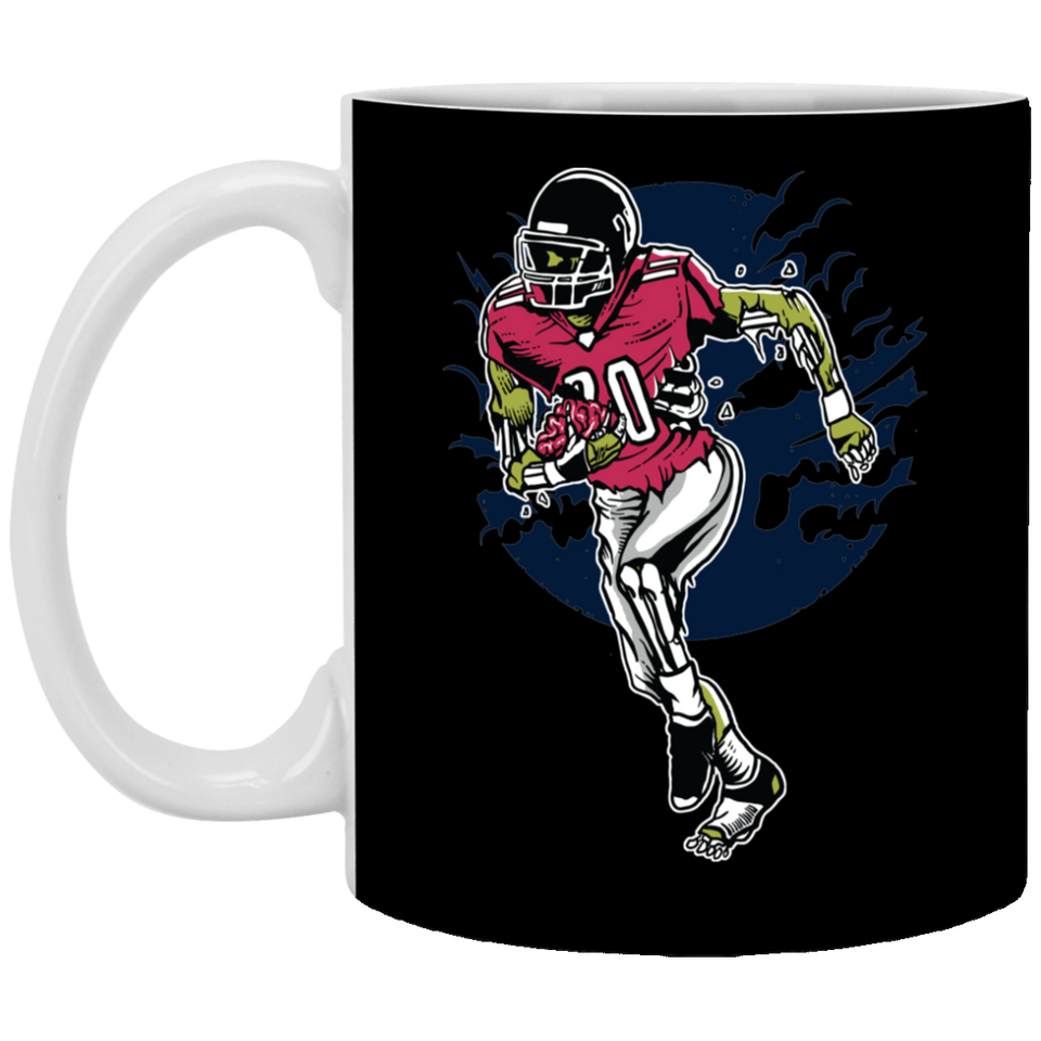 Zombie Football - 11 oz. White Mug - 356