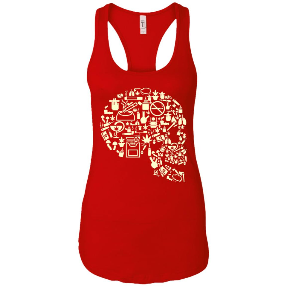 Smoking Kills - Doodle Art - Women's Racerback Tank Top