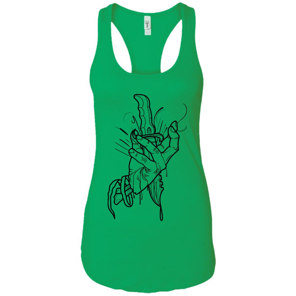 Knife hand - Tattoos Art - Women's Racerback Tank Top