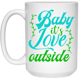Baby It's Love - Christmas Quotes - 15 oz. White Mug - 2040