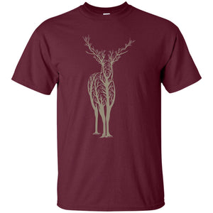 26 - RTP - Caffein Art - Deer 2 - Animal Art - Adult Unisex T-Shirt