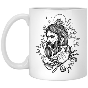 Beardman -Tattoos Art - 11 oz. White Mug - 377