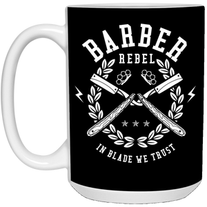 Barber Rebel - Barber Art - 15 oz. White Mug - 106