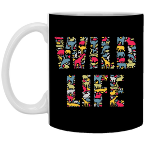 Wild Life - Animal Art - 11 oz. White Mug - 98