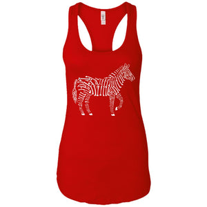 Zebra Bones - Animal Art - Women's Racerback Tank Top
