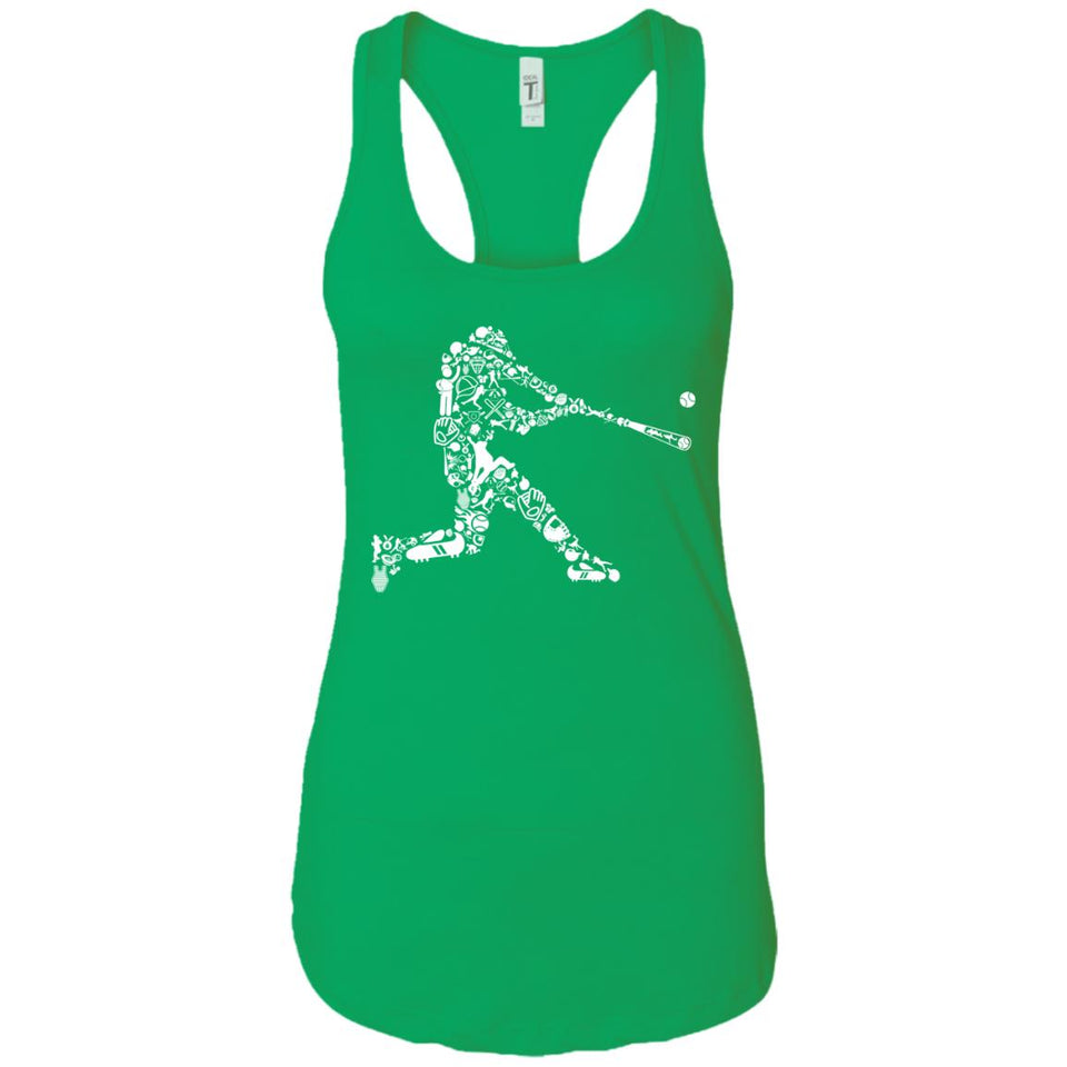 Baseball Player - Doodle Art - Women's Racerback Tank Top