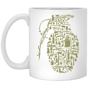 Grenade - Weapons Art - 11 oz. White Mug - 48
