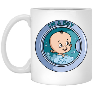 729 - RTP - Maria Funny Bundle - Wash Machine Baby Boy - XP8434 11 oz. White Mug