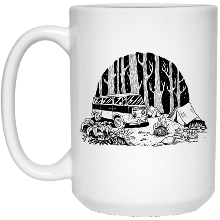 Camping - Tattoos Art - 15 oz. White Mug - 393