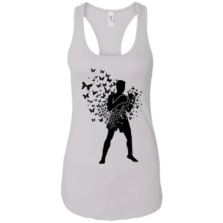 Float Like Butterfly Sting Like Bee - Doodle Art - Women's Racerback Tank Top
