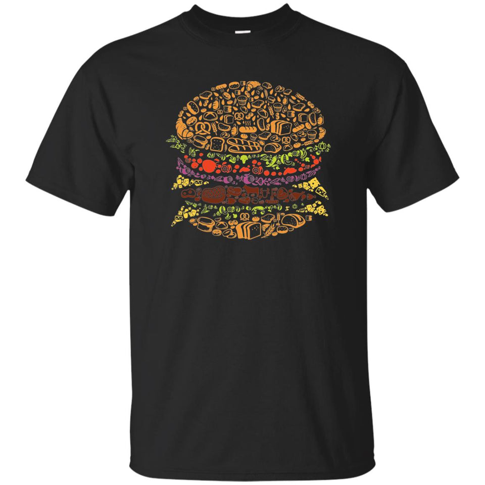 15 - RTP - Caffein Art - Burger - Doodle Art - Adult Unisex T-Shirt
