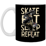 Skate Eat Sleep Repeat - 11 oz. White Mug - 340