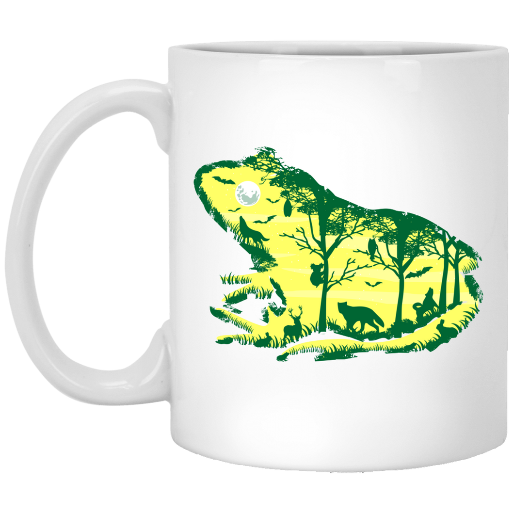 Froggy Night - Animal Art - 11 oz. White Mug - 42