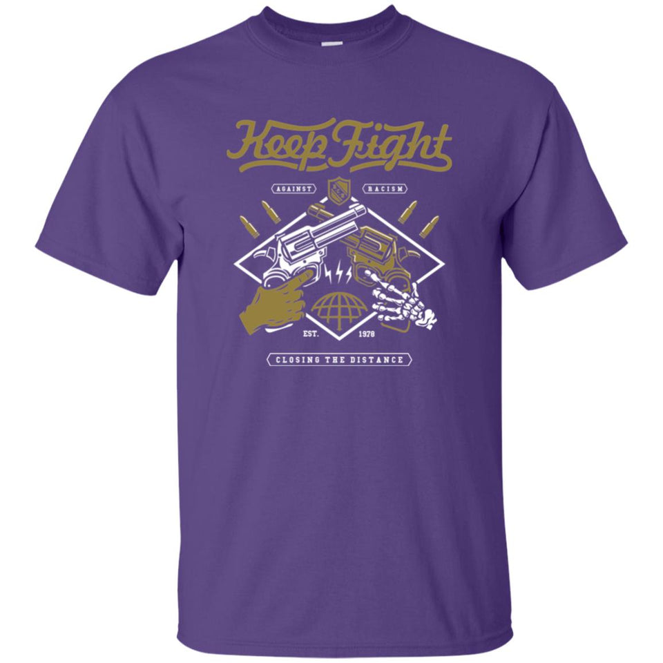 174 - RTP - Roach Graphics - Keep Fight-01 - Adult Unisex T-Shirt