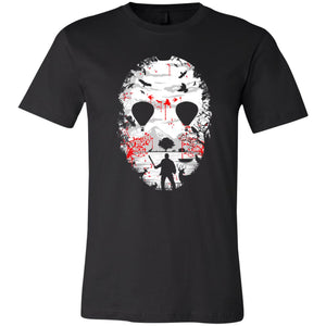 21 - RTP - Caffein Art - Crystal Lake - Horror Art - Adult Unisex T-Shirt Premium