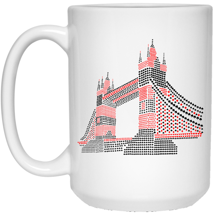 87 - RTP - Caffein Art - The Bridge - Vintage Art - 15 oz. White Mug