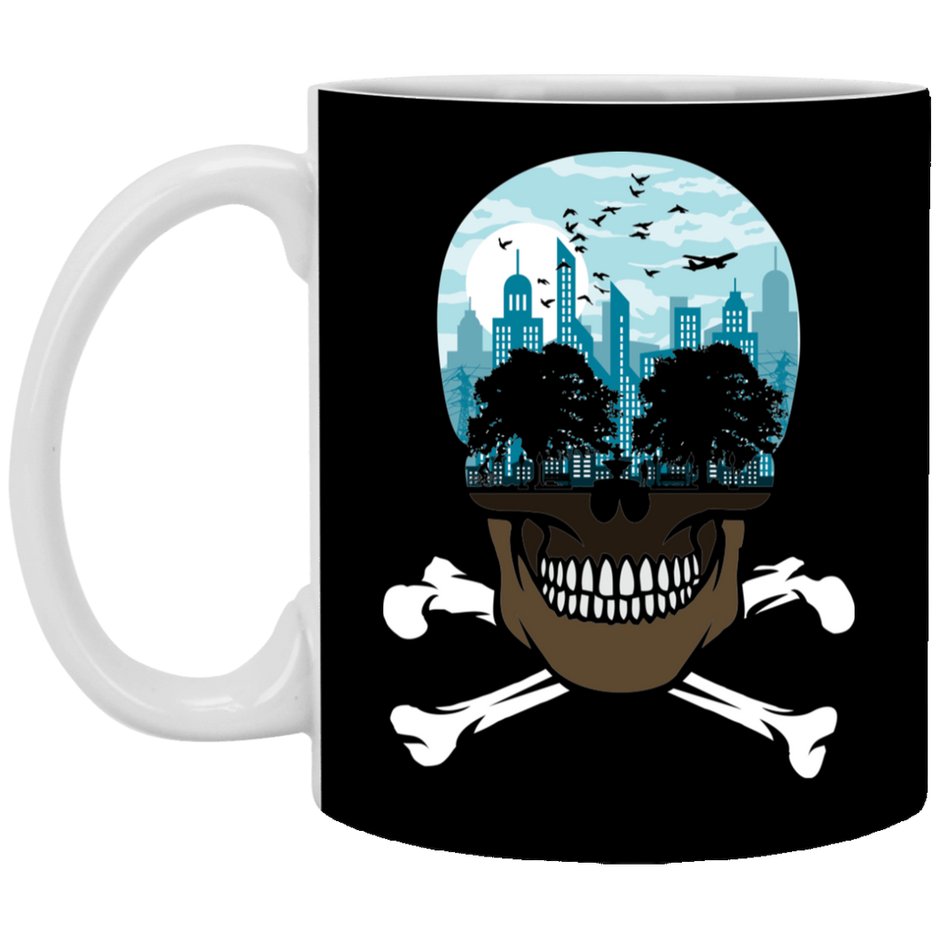 Death City - Skull Art - 11 oz. White Mug - 24