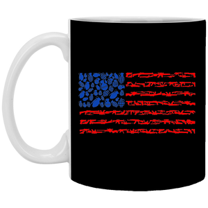 Weapon Flag - Weapons Art - 11 oz. White Mug - 96
