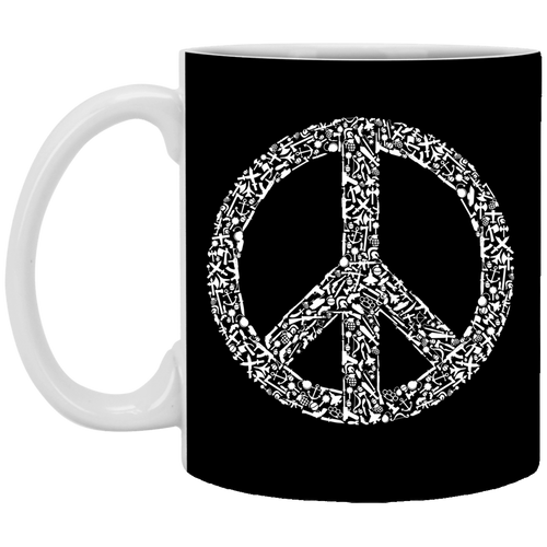 War Peace - Weapons Art - XP8434 11 oz. White Mug - 95