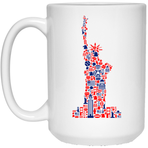 59 - RTP - Caffein Art - Liberty - Animal Art - 21504 15 oz. White Mug
