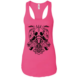 Skull motorcycle - Tattoos Art - Women's Racerback Tank Top