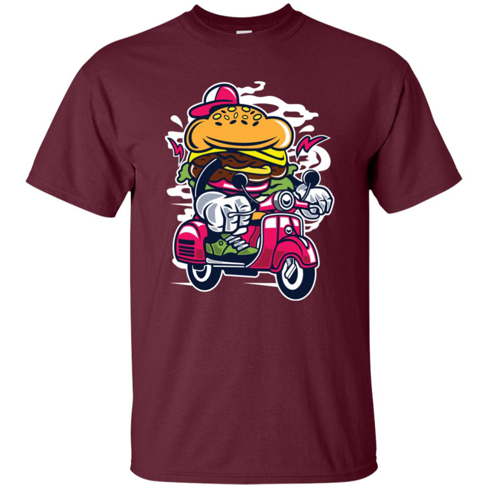 119 - RTP - Roach Graphics - Burger Scooter-01 - Adult Unisex T-Shirt