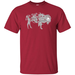 97 - RTP - Caffein Art - Wild Bison - Animal Art - Adult Unisex T-Shirt