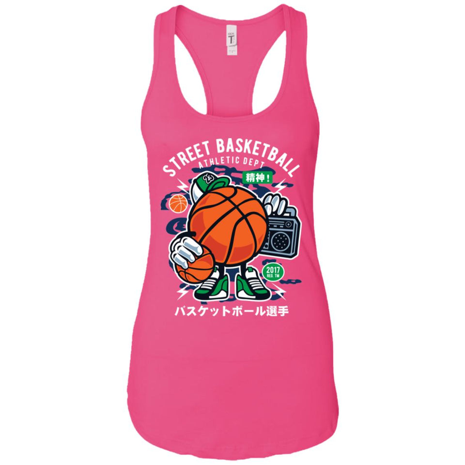 Street Basketball - Sports Art - Women's Racerback Tank Top