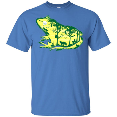42 - RTP - Caffein Art - Froggy Night - Animal Art - Adult Unisex T-Shirt